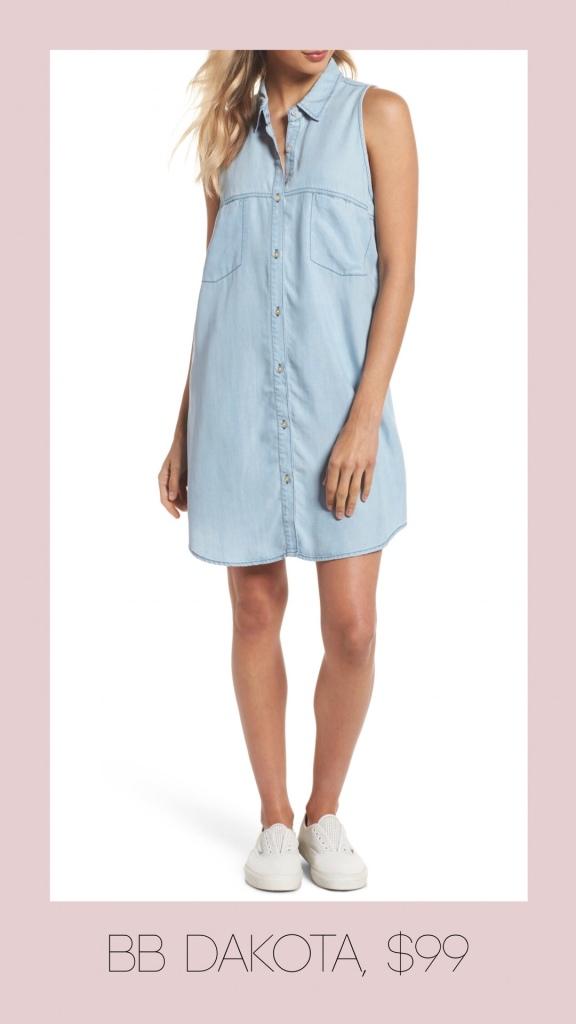 BB Dakota button front shirt dress