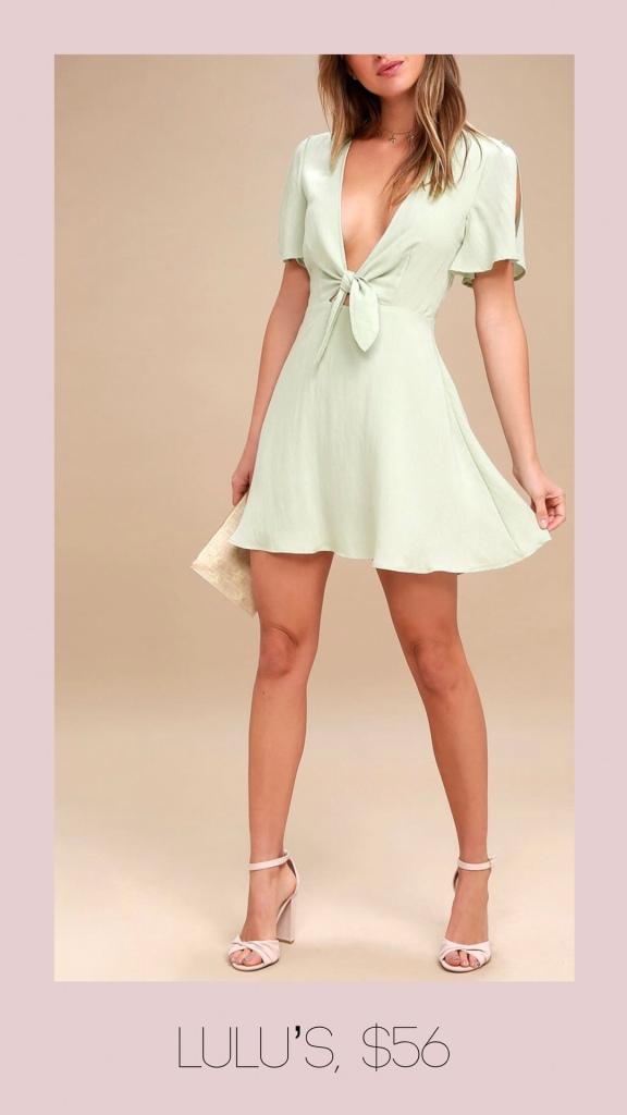 Lulu's knot front minidress