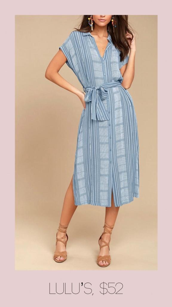 Lulu's plaid button front midi dress